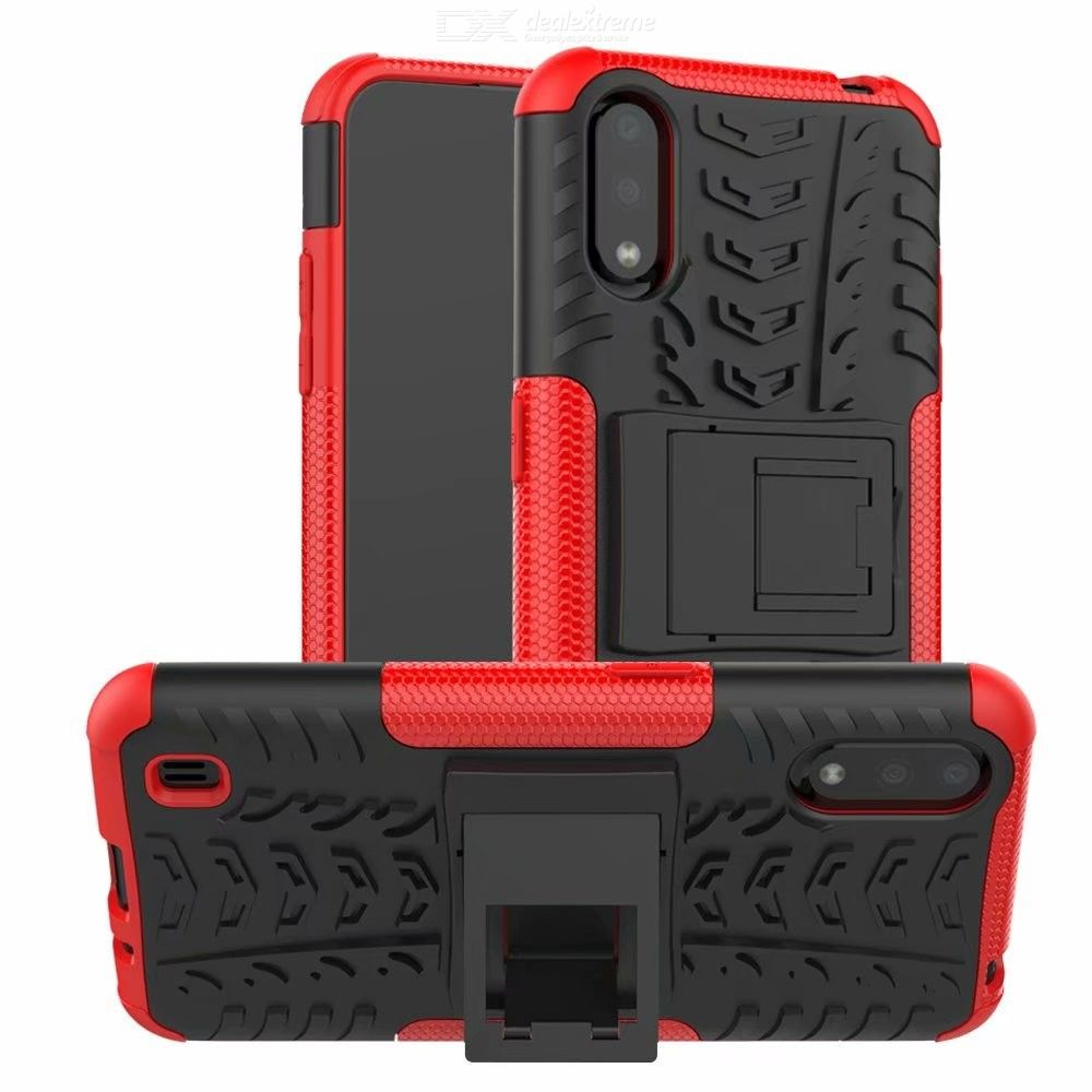 CHUMDIY PC+TPU Phone Case with Stand for Samsung Galaxy A10