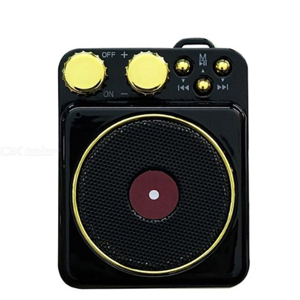 5357 T10 Mini Bluetooth Speaker Creative Retro Record Player Wireless Audio FM Speaker Portable Hands-Free Speaker