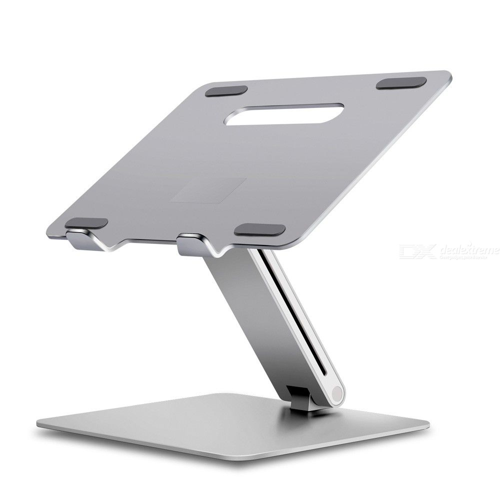 Laptop Stand Height-and-Angle Adjustable Laptop Riser Holder Foldable Portable Aluminum Alloy Notebook Mount