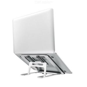 Laptop Stand 5 Levels Height-and-Angle Adjustable Cooling Ventilated Laptop Riser Holder Foldable Aluminum Alloy Notebook Mount