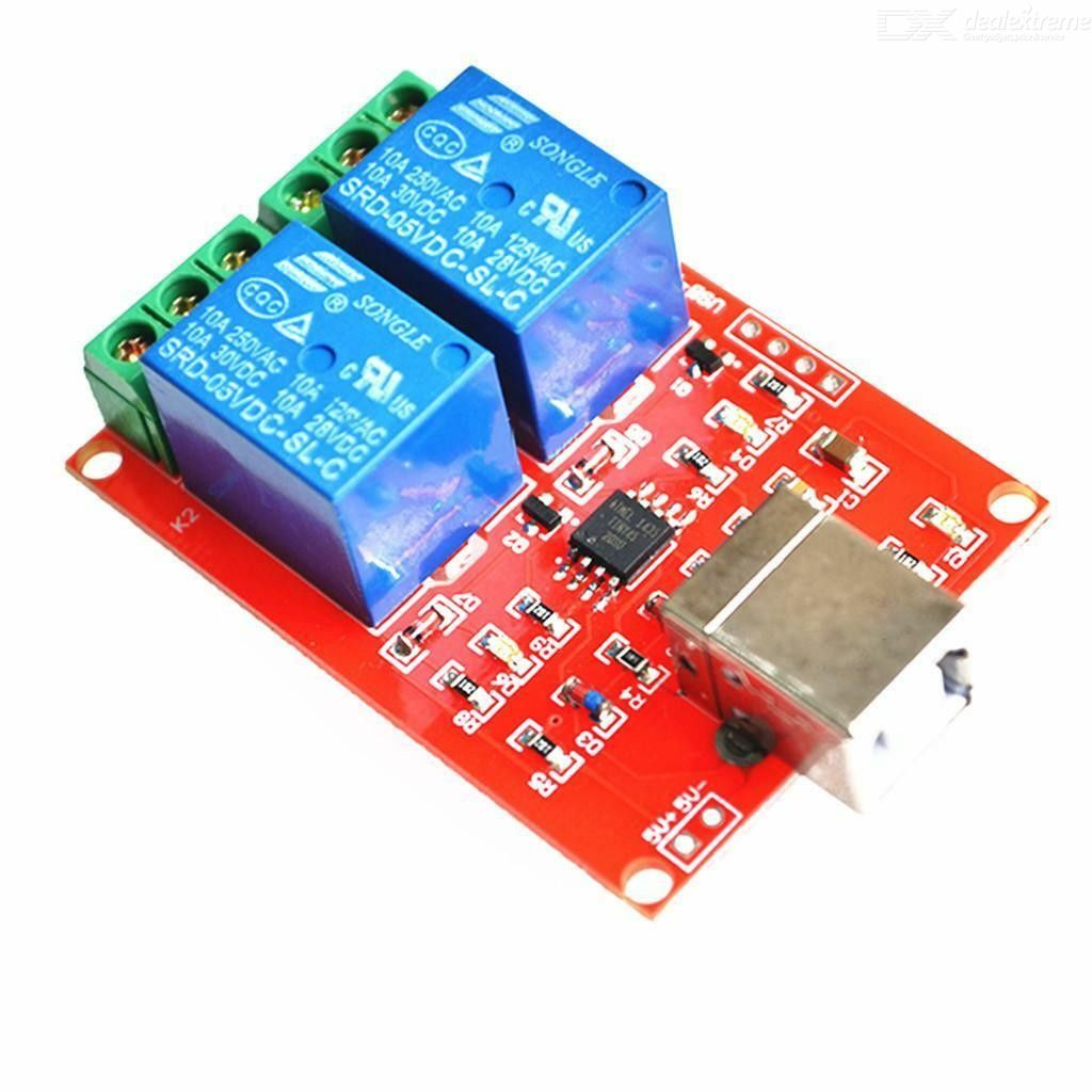 DC 5V 2-CH Channel Relay Module Computer USB Control Switch for Arduino