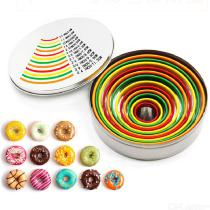 12PCS Stainless Steel Mousse Rings Set 12 Sizes Cake Mold Round Circle Cookie Cutter DIY Pastry Cake Decoration Tool