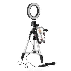 5.7 Inch Dimmable LED Ring Lamp with Tripod Fill Light Mobile Phone  Holder