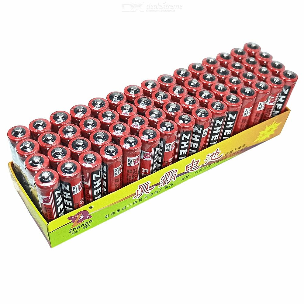 60PCS AAA 1.5V Primary Dry Battery for Remote Control / Electric Toy / Clock