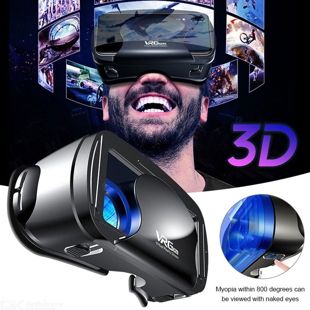 Original VRG Pro 3D VR Glasses Virtual Reality Glasses Box Stereo VR Google Helmet For 5 to 7 Inch Smartphone Eyeglasses Devices