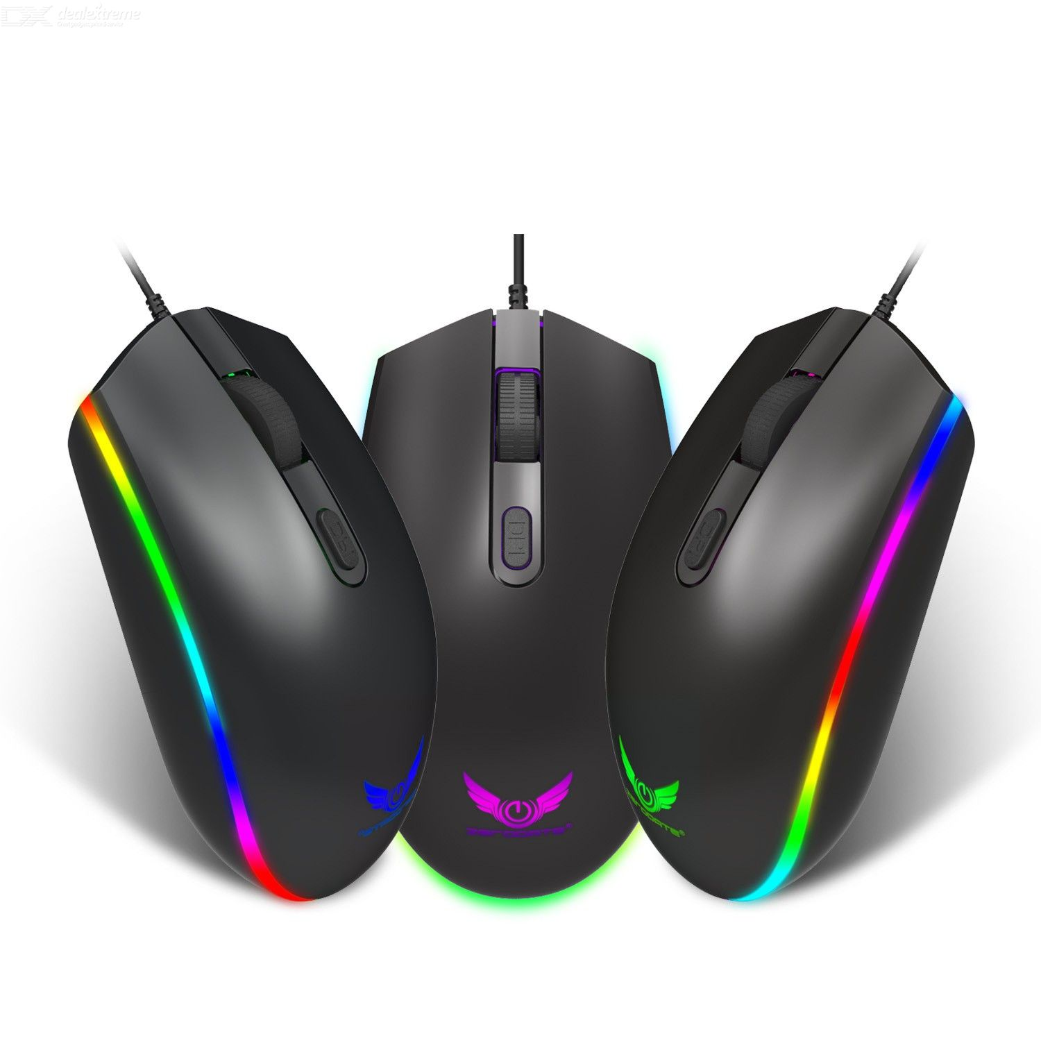 S900 Gaming Mouse 1600DPI 3-level Adjustable Optical Mouse USB 2.0 Wired Optical Gaming Mouse with 4 Buttons