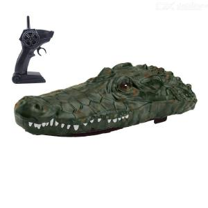 RC Boat  Simulation Crocodile Head Remote Control Boat 2.4G Control Electric Boat Toys Crocodile Head Spoof Toy