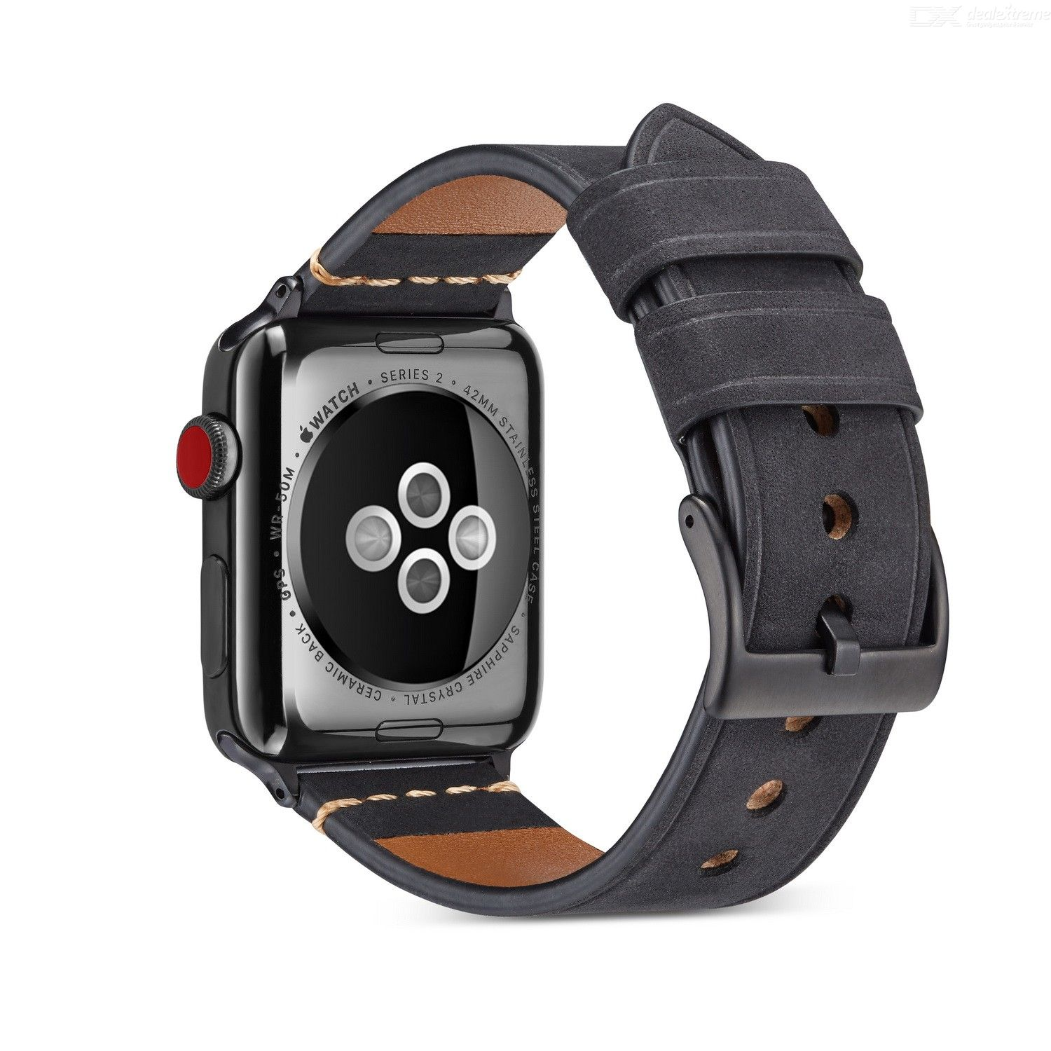 Premium Frosted Leather Strap Replacement Watch Band for Apple Watch iWatch 1 / 2 / 3 / 4 / 5