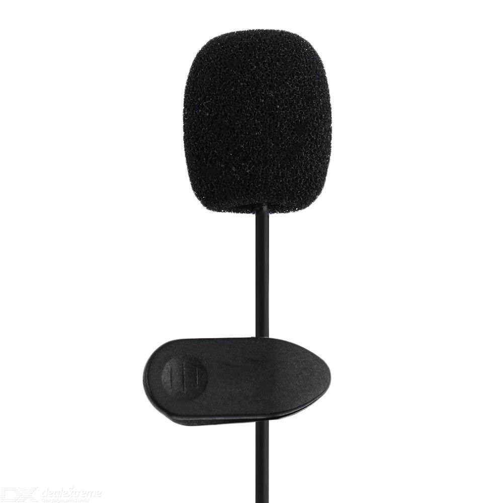 Lavalier Microphone 3.5mm External Clip-on Lapel Mic Omnidirectional Condenser Microphone for PC Laptop
