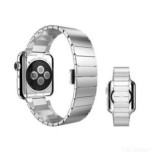 Stainless Steel Solid Butterfly Chain Watch Strap Replacement Watch Band For Apple iWatch