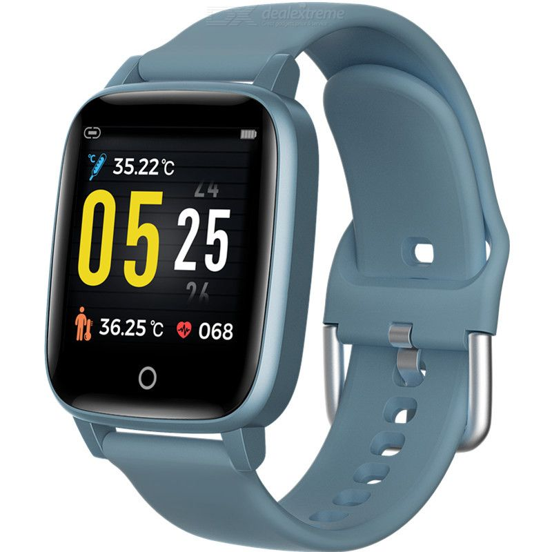 1.3 Inch Color Screen Fitness Tracker Sports IP67 Waterproof Smart Watch with Body Temperature Measurement Function