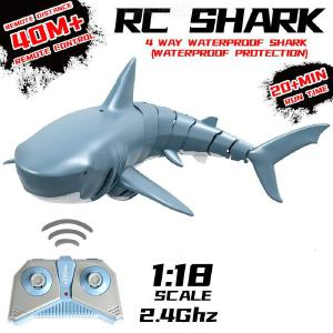 Remote Control Shark Toy Summer Swimming Remote Control Shark Animal Toy Infrared Remote Control Shark Fish Toy Tricky Funny Toy