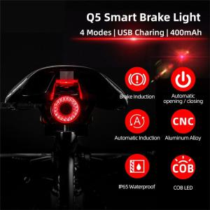 Ultra-smart Bike Tail Light USB Rechargeable LED Waterproof Bicycle Lamps