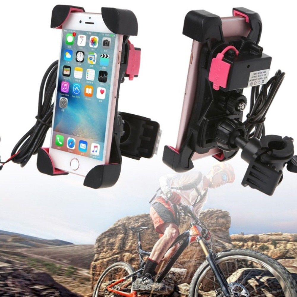 Mobile Phone Charging Stand Bicycle Holder for Outdoor