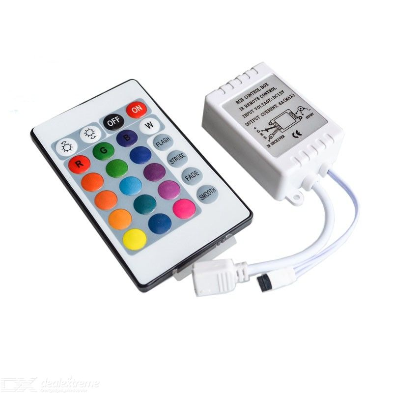 24 Key 16 Color IR Remote Control Controller For 3528 5050 SMD RGB LED Strip 12V