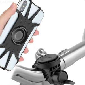 360 Degree Rotation Mobile Phone Holder Bike Motorcycle Shockproof Stand