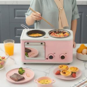 3 In 1 Electric Automatic Kitchen Toaster Multi-Functional Breakfast Machine