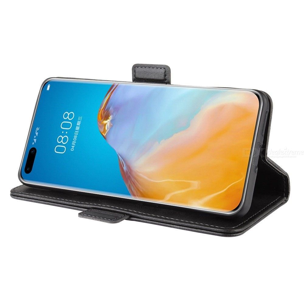 CHUMDIY Phone Case PU Leather Phone Wallet Case with Stand and Double Buckle  for Huawei P40 Pro