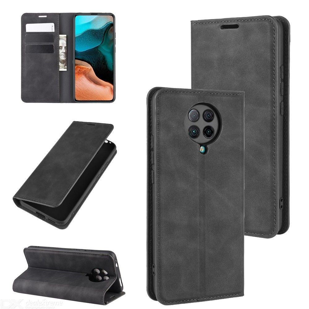 CHUMDIY PU Leather Wallet Case with Magnetic Closure for Xiaomi Redmi K30 Pro