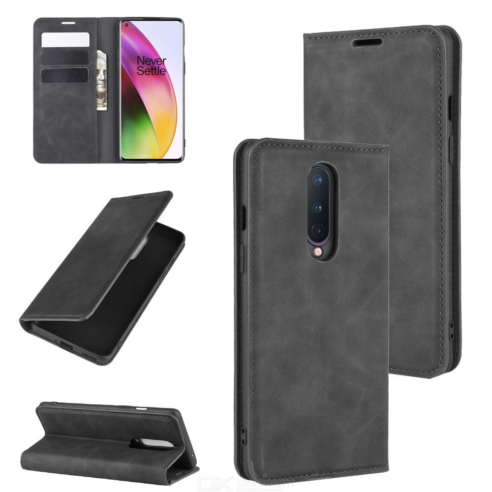 CHUMDIY PU Leather Phone Case Protective Cellphone Wallet Case with Magnetic Closure for OnePlus 8