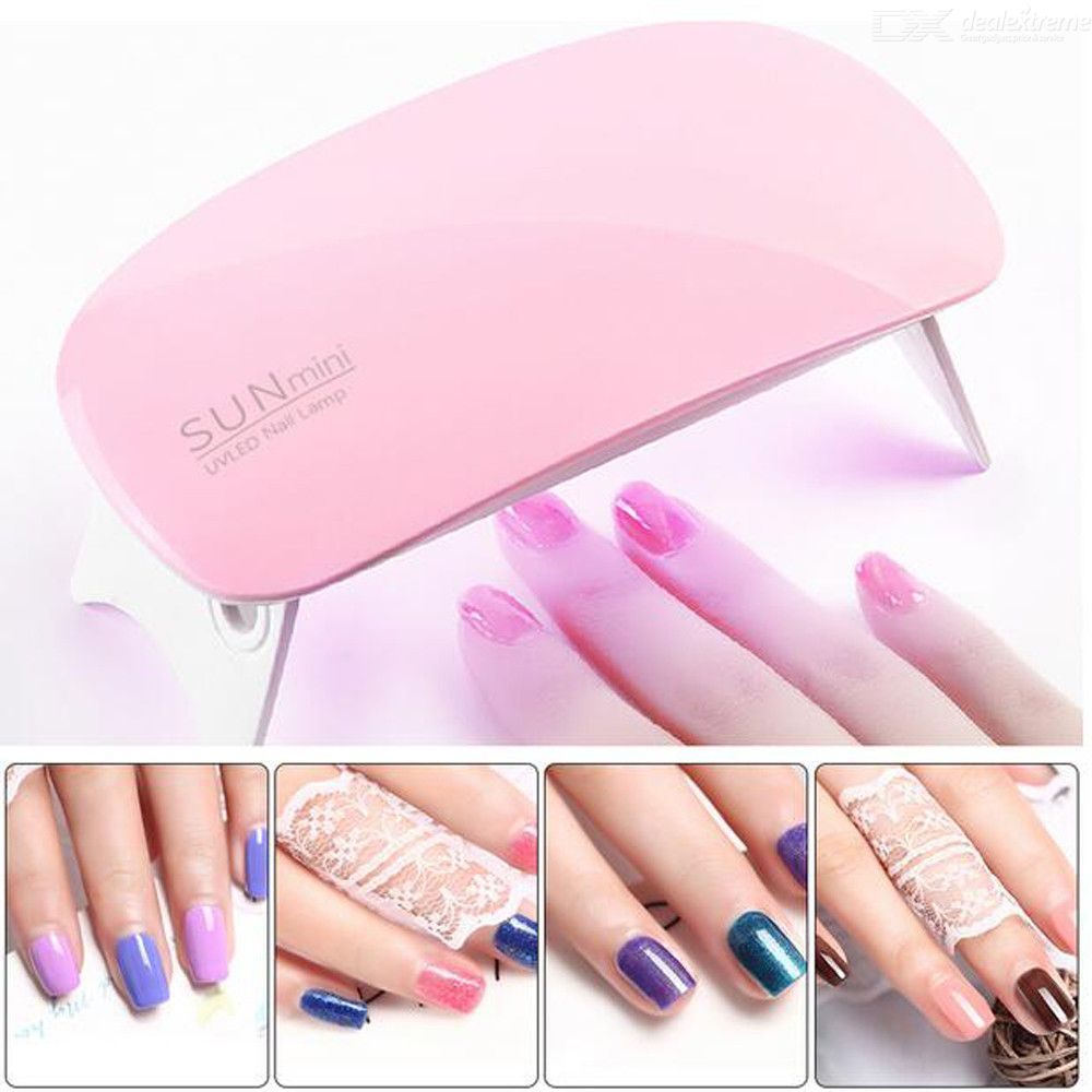 6W Nail Dryer LED UV Lamp Micro USB Gel Varnish Curing Machine For Home Use Nail Art Tools