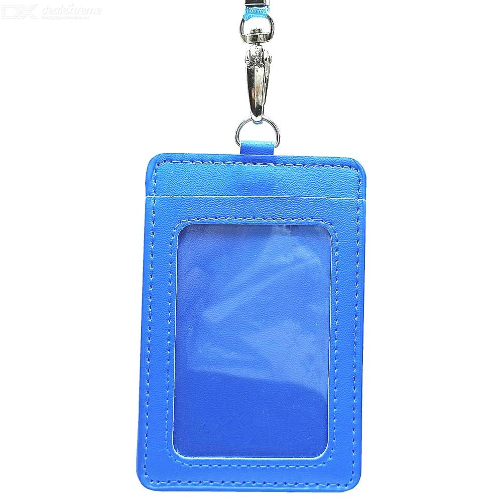 PU Double-Layer Card Holder with Rope for ID Card / Student Card / Bank Card / Working Card