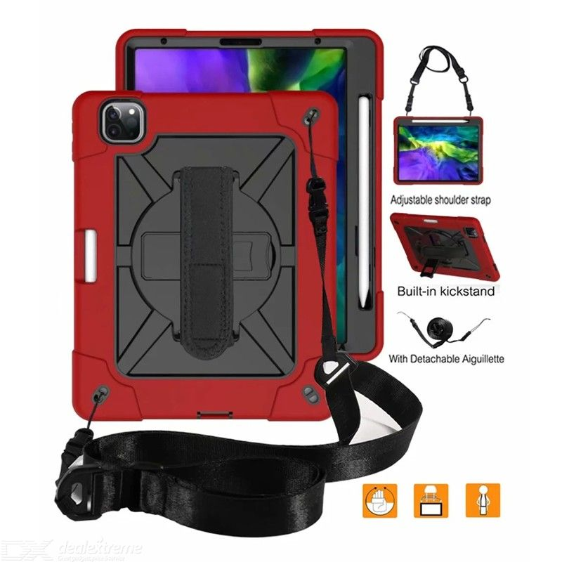 Case for iPad Pro 11 inch children safe shockproof high strength silicone 360 rotate hand holder