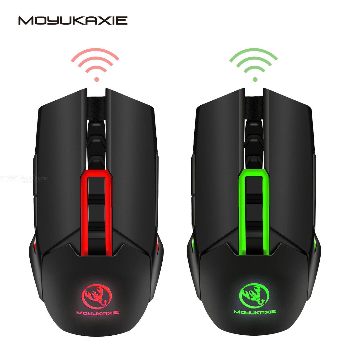X80 2.4GHz wireless mouse computer USB rechargeable gaming mouse 5 adjustable DPI gaming wireless mouse supports 4800dpi