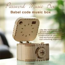 3D Wooden Treasure Box Puzzle-Model DIY Brain Teaser Mechanical Engineering Crafts Building Kit Educational Toys