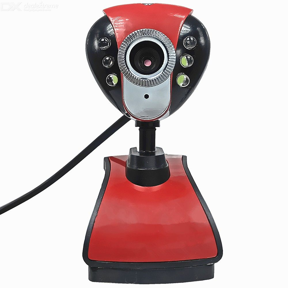 USB 2.0 480P Web Camera Laptop Webcam Clip-On Web Cams With Microphone LED Refill Light For Computer PC Desktop