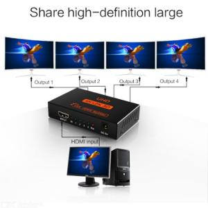 HDMI 1 In 4 Out Splitter 4K X 2K 1080P HDMI Video Extender