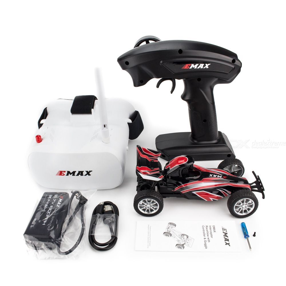 EMAX Interceptor RaceVision FPV RC Car - RTR (Ready-To-Run), BNR Version (without Glasses)