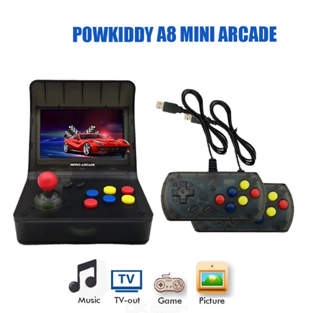 A8 Retro Mini Games Console 64Bit Video Game Console Built-In 3000 Games Handheld Game Player Best Gift