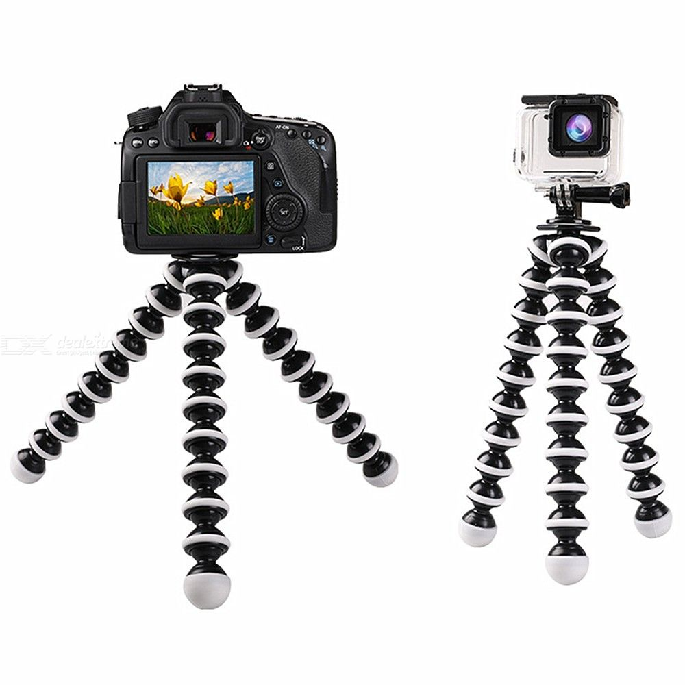 Flexible Octopus Tripod with Phone Holder Mount Flexible Camera Tripod Stand with Cellphone Clamp