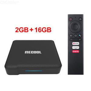 MECOOL KM1 ATV Android 9.0 TV Box 2GB RAM 16GB ROM Dual WiFi 2.4GHz/5G Bluetooth 3D/4K Google Certified Set-Top Box