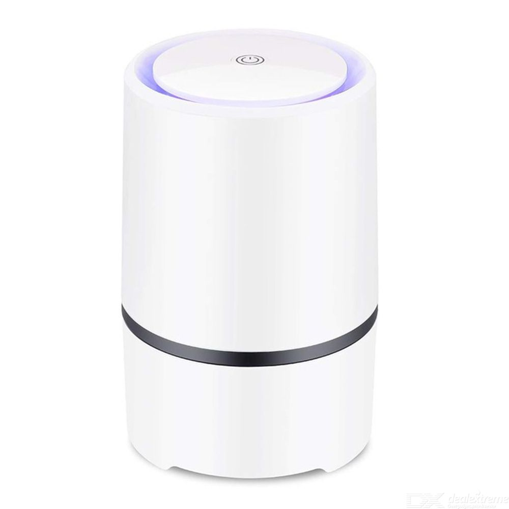 Air Purifier With True HEPA Filter Activated Carbon Mini Air Cleaner For Home Allergies Pets Smokers