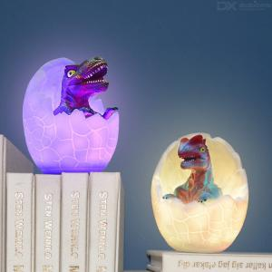 Nightlight For Kids USB Rechargeable Dinosaur Tap Light Color Changing Night Lamp