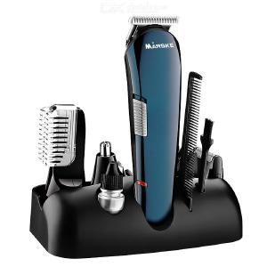 Men's Grooming Trimmer Kit Rechargeable Hair Clipper Razor Precision Design Trimmer Nose Trimmer Body Hair Trimmer 5-in-1 Set