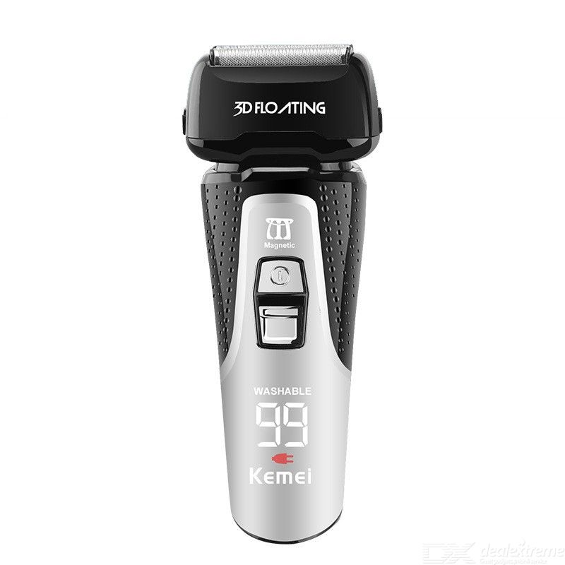 KEMEI KM-1531 Electric Razor For Men Waterproof Rechargeable Cordless Electric Shaver With Pop-up Sideburns Trimmer