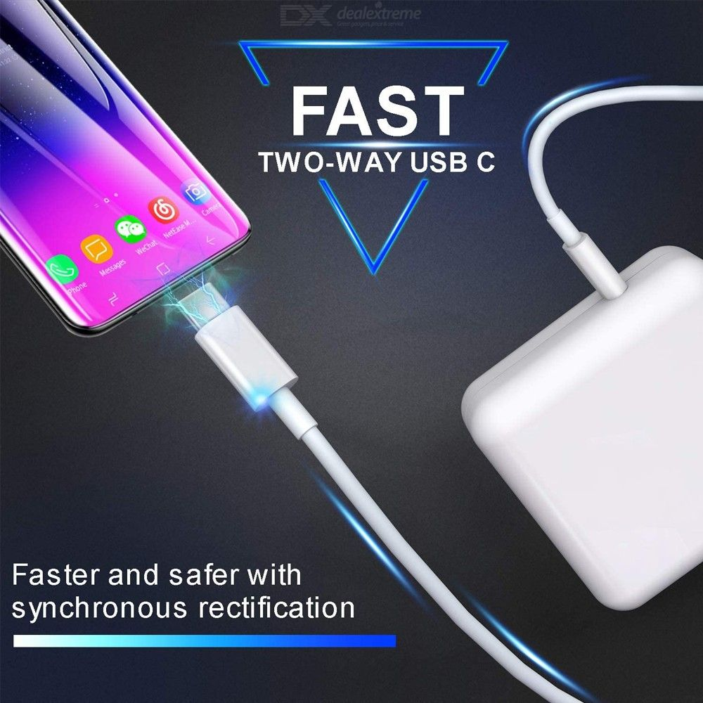 61W PD USB-C Power Adapter + 2m PD Fast Charging Cable for MacBook Pro / iPhone - EU Plug