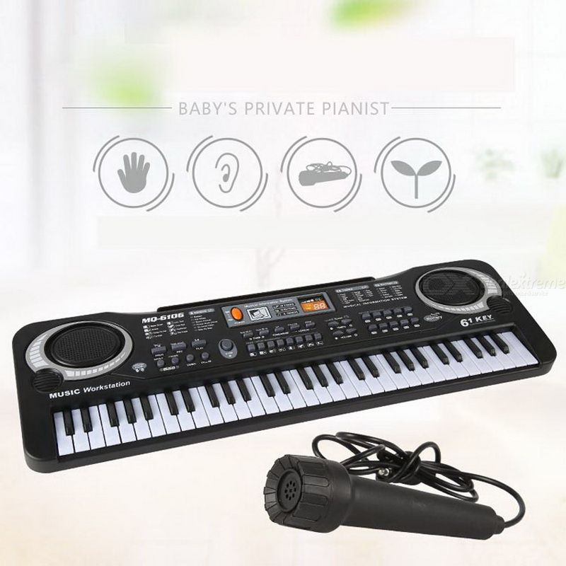 Multi-function 61 Keys Childrens Electronic Piano With Microphone Baby Beginner Music Toy