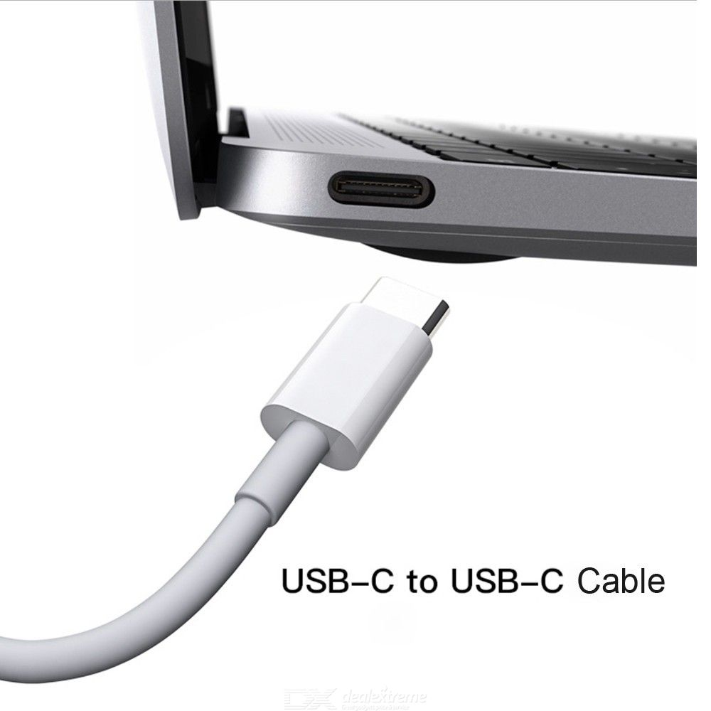 2m 3A Dual USB-C Fast Charging Cable for MacBook Pro / Huawei / Samsung / Xiaomi Laptop