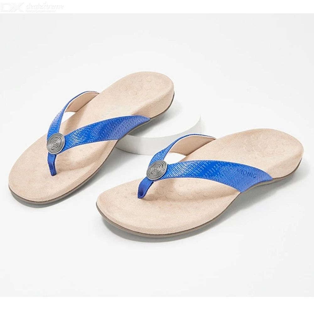 Vionic Thong Sandals Indoor Outdoor Slippers Beach Slides Lady Footwear