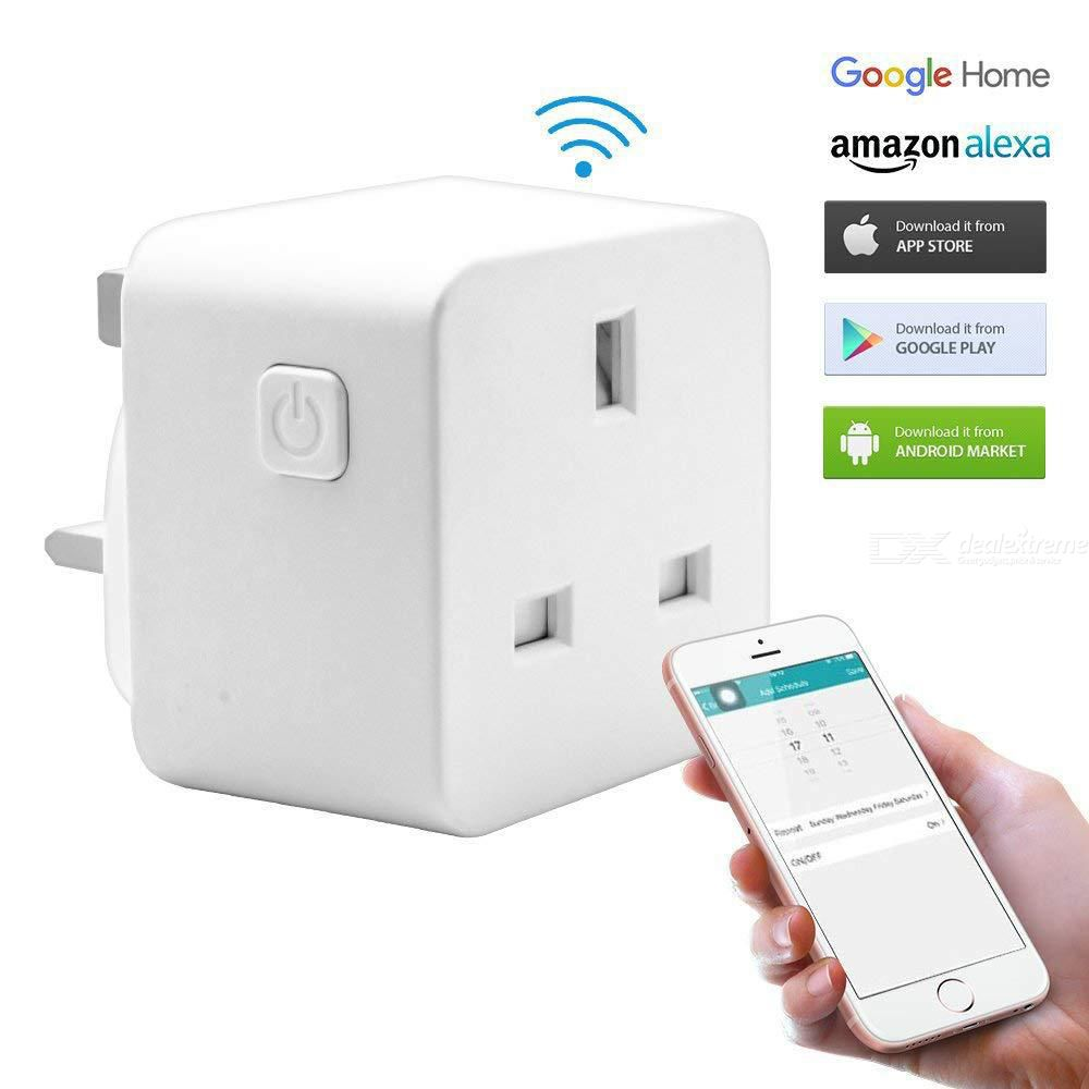 Smart Plug WiFi Smart Socket Switch Compatible With Amazon Alexa - UK Plug