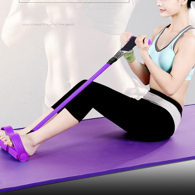Multifunctional Pedal Exerciser Four-Tube Resistance Band Fitness Equipment