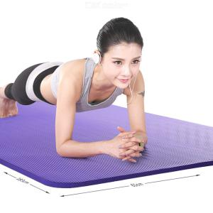 Non-slip Yoga Fitness Mat With Carrying Strap Gym Exercise Pads