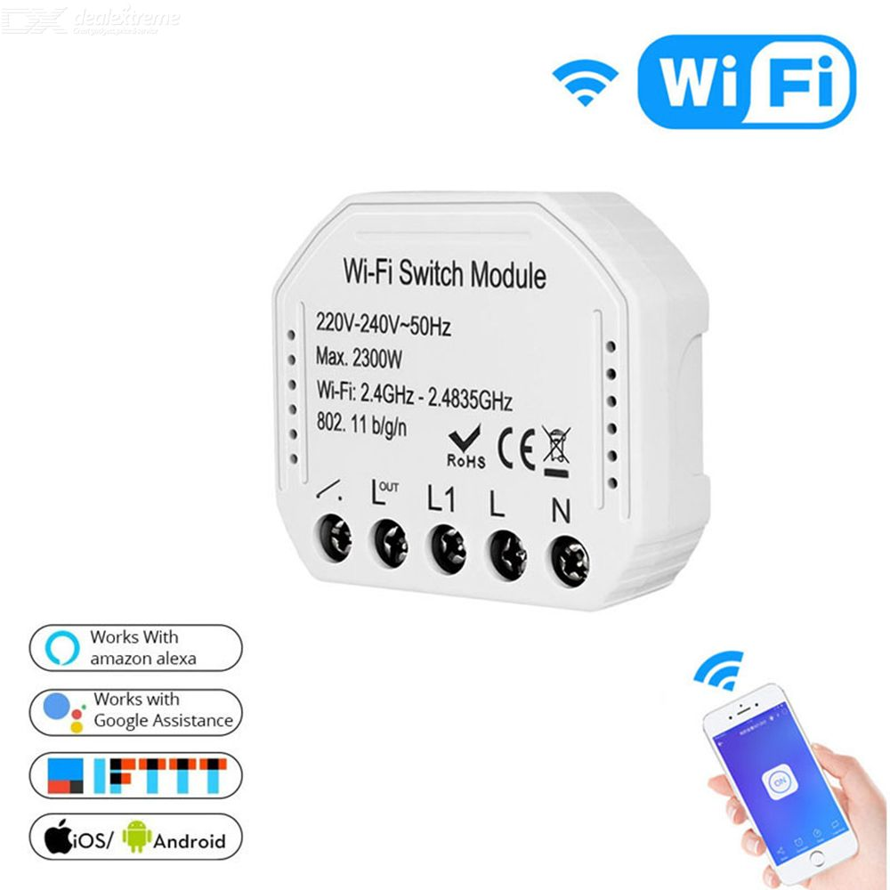 Smart Remote Control WiFi Switch Wireless WiFi Relay Switch Compatible With Amazon Alexa Google Assistant