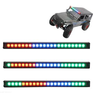 RC LED Running Light Bar Color Changing Roof Lamp with 7 Colors 20 Light Modes 22 LED for 1/10 Scale RC Trucks