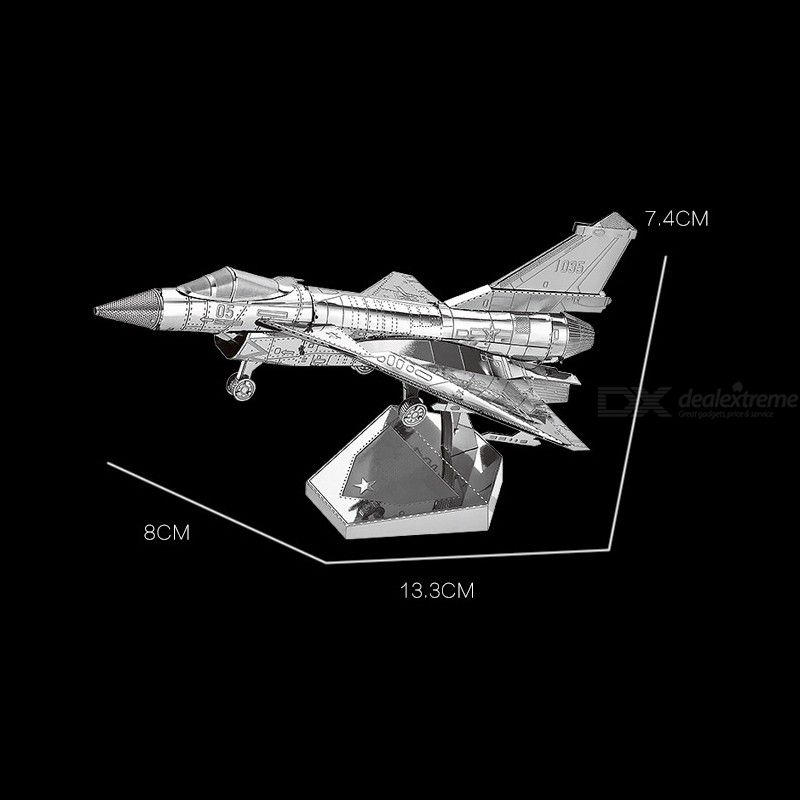 DIY 3D Metal Assembly Model Air Force Fighter Shaped Puzzle Toys