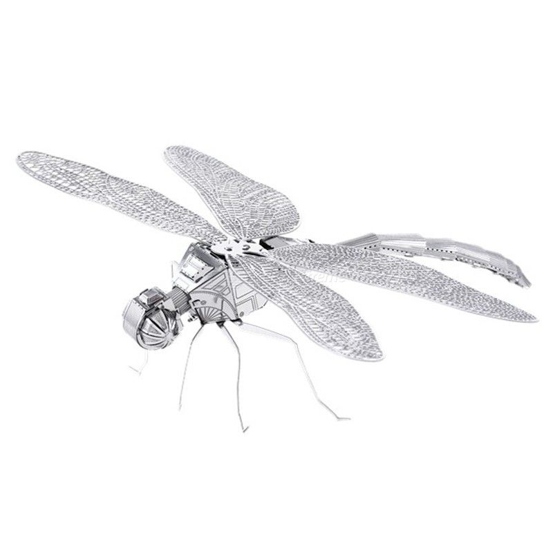 DIY 3D Metal Assembly Model Dragonfly Shaped Puzzle Toys